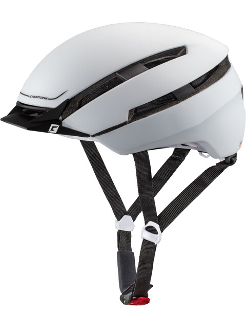 Cratoni C-Loom Helmet white-black rubber